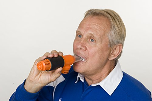 PowerLung AireStream Light Resistance Breathing/Respiratory Trainer - Music | Health ARS-K100 Orange by PowerLung (Image #3)