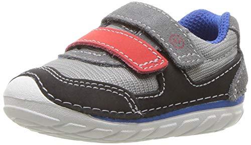 Stride Rite Mesh Sneakers - Stride Rite Mason Baby Boy's and Girl's Athletic Mesh Sneaker, Grey/Black, 6 M US Toddler