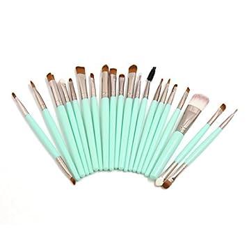 eDealMax 20 piezas de polvo de pinceles de maquillaje Sombra de ojos Delineador de ojos Fundación