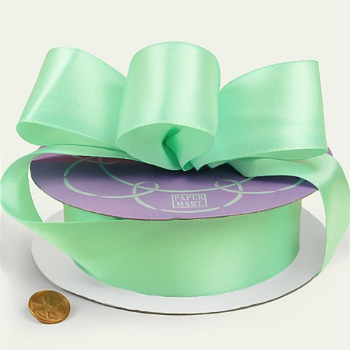 Mint Double Face Satin Ribbon, 1-1/2