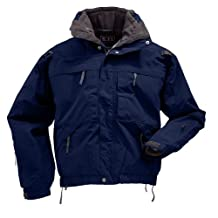 5.11 Tactical Series Men's 5-in-1 Jacket, Dark Navy, Large Tall
