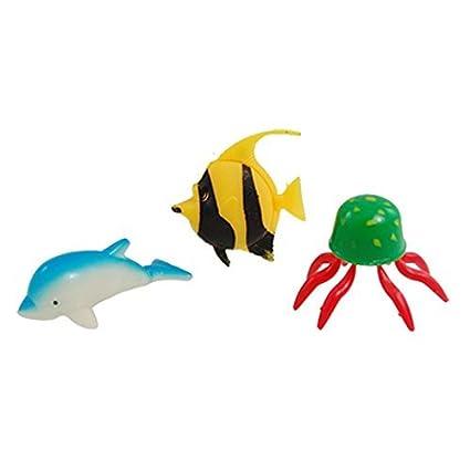 eDealMax 3-piezas de plástico del tanque del acuario decorativo ballena medusas Conjunto