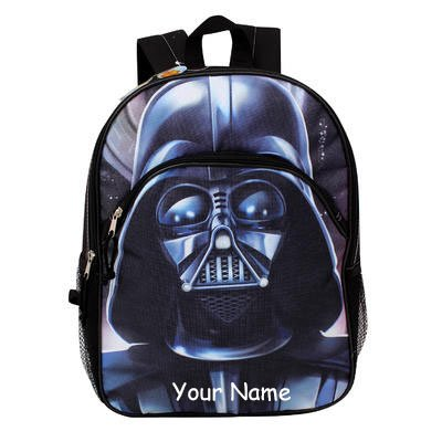 Personalized Disney Star Wars Darth Vader Backpack with Name - 16 Inches ()