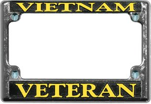 Vietnam Veteran License Plate Frame - MOTORCYCLE