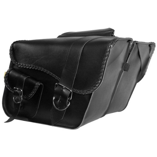 Willie and Max Ranger Braided Slant Saddlebags - 16in.W x 11in.H x 6-1/2in.D - Willie And Max Bag