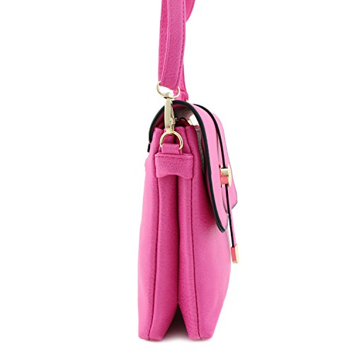 Fuchsia Bag Top Crossbody Small Flap xqBAwTqIg