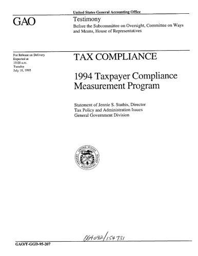 Tax Compliance  1994 Taxpayer Compliance Measurement Program