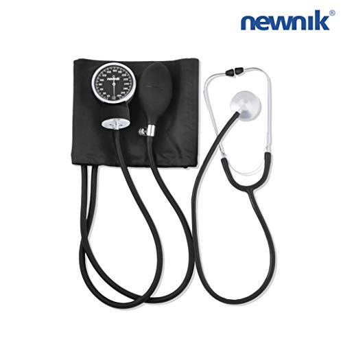 NEWNIK SP501 Sphygmomanometer/Aneroid BP Monitor with Free Stethoscope, Cuff & Carrying Case- GREY