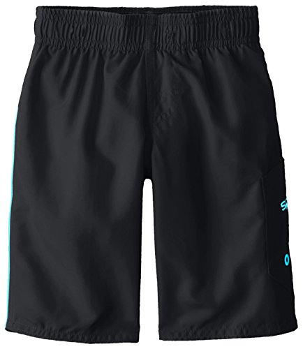 Speedo Little Boys' Marina Volley Swim Trunk, Blue/Black, 4 2 Boardshort Black Apparel