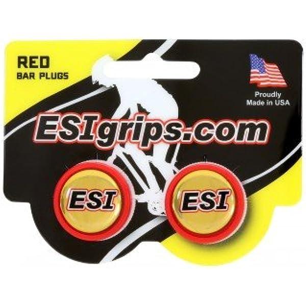 Tapones de Manillar de Carretera ESIGRIPS Bar Plugs Rojo: Amazon.es: Deportes y aire libre