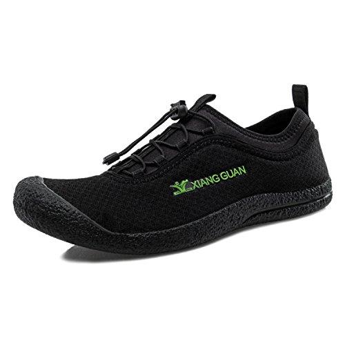 XIANG GUAN Outdoor Unisex Trekkingschuhe Mesh Atmungsaktive Schuhe 33009 Schwarz