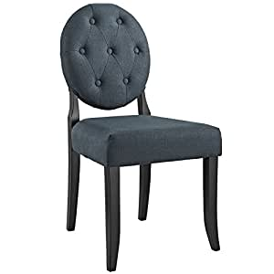 Amazon Com Modway Button Dining Side Chair Gray Kitchen