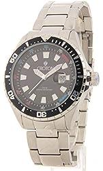 Croton Mens Large Stainless Steel Date Casual Watch Ca301245bkbk