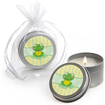 Amazoncom Froggy Frog Candle Tin Baby Shower Favors Set Of 12