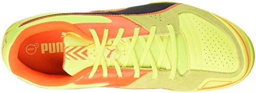 Puma Invicto Sala - Botas de fútbol para hombre Giallo (Safety Yellow/Puma Black/Shocking Orange)