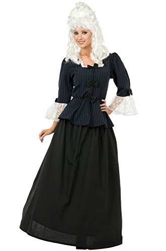 Colonial First Lady Costumes (Charades Colonial Martha Washington Adult Costume-Teen)