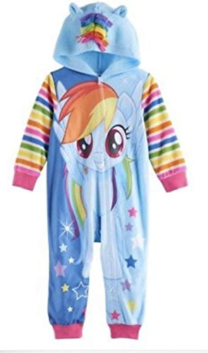 My Little Pony Rainbow Dash Hooded Footless Pajamas Toddler Girl (2T)
