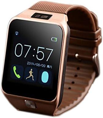 Vktech® Smart Watch Bluetooth 4.0 SMS Llamada Reloj Inteligente Pantalla Táctil Technología de MTK2501 Resolución de 240 x 240 Con Función de Odómetro Radio ...