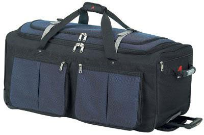 Athalon Luggage 29'' 15-Pocket Duffel, Blue/Black by Athalon