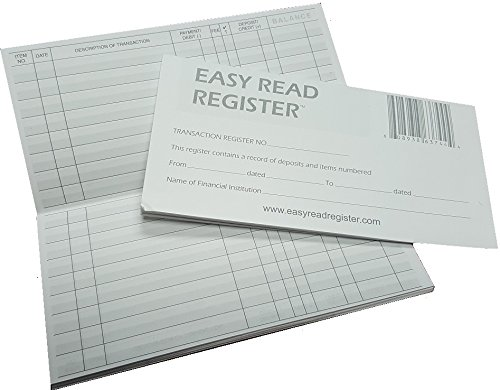 (Easy Read Register 10 Checkbook Registers - 32 Pages with 510 Lines - 2019/20/21 Calendars)