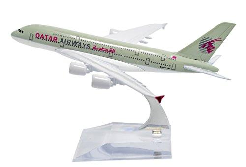 Tang Dynasty Tm  1 400 16Cm Air Bus A380 Qatar Airways Plane Metal Airplane Model Plane Toy Plane Model