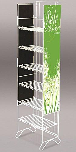 "New Retails White 6-Shelf Compact Merchandiser 52""H"