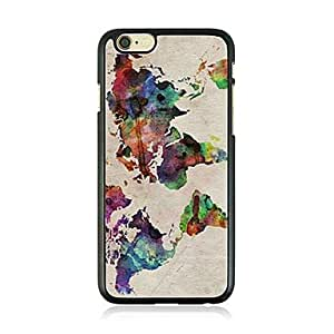 QYF Abstract Painting Leather Vein Pattern Hard Case for iPhone 6