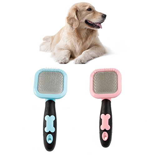 [Grooming Slicker Brush. Wet Or Dry Painless Cleaning & Grooming Dog Cat Stainless Steel Comb Professional Pet Grooming Deshedding Combs For Dogs &] (Axolotl Costume)
