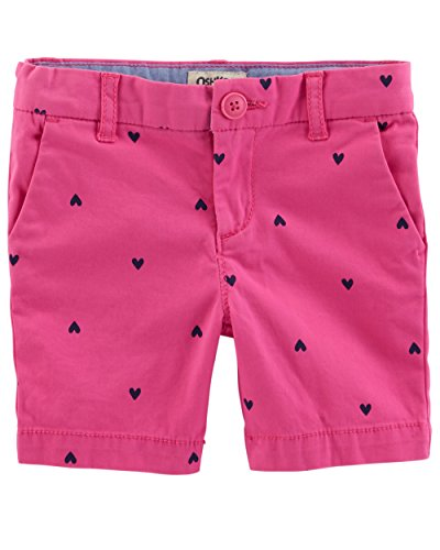 Osh Kosh Girls' Toddler Skimmer Short, Pink Schiffli, 2T - Oshkosh B Gosh Children's Clothing
