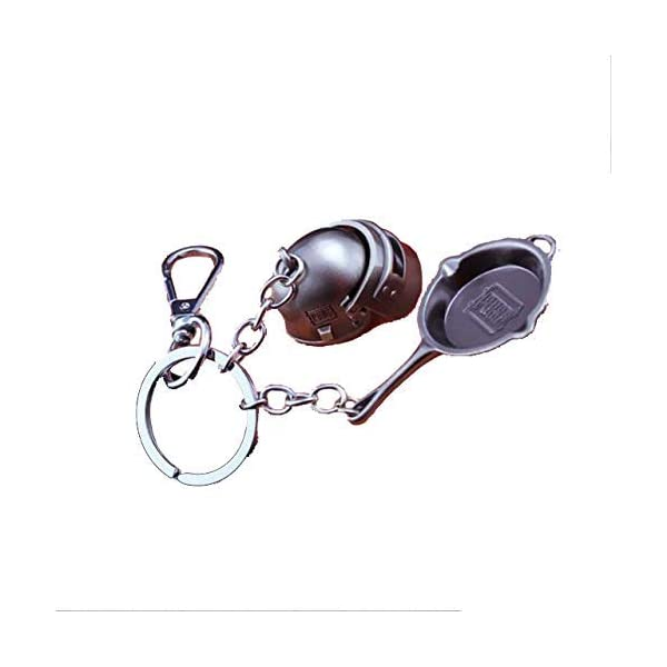 pubg Keychain with Pan and Level 3 Helmet keychain