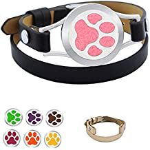 NewStar Aroma Essential Oil Leather Bracelets For Women Aromatherapy Diffuser Bracelet With 1 Extra Band
