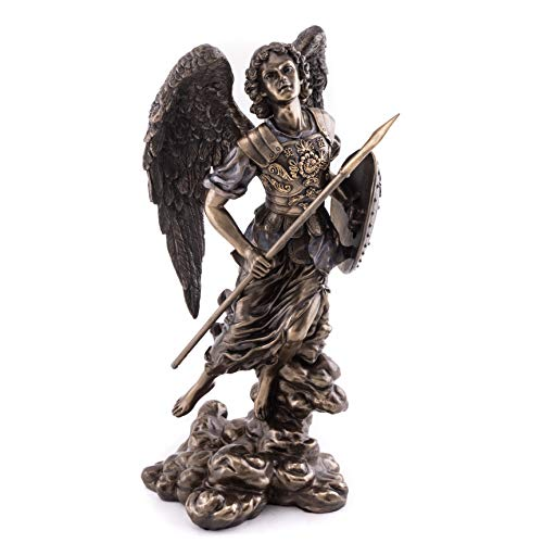 Top Collection Archangel Saint Raphael Statue- God of Healing Sculpture in Premium Cold Cast Bronze- 12-Inch Collectible Ancient Roman Angel Figurine