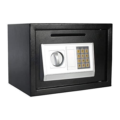 Digital Electronic Security Safe Box with Keypad Drop Box Safe Lock Boxes Front Loading Safe Cash Drop Lock Safe Security Box Gun Cash Jewelry Box For Home Hotel Business for ()