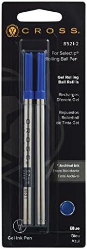 Cross BLUE Rolling Ball Refill 2 Pack for Selectip Pen 2 Refills 8521-2 SEALED