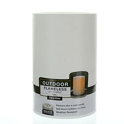 Inglow Flameless Round Outdoor Candles with Timer