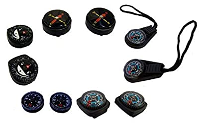 Type-III Mini Compass Variety Pack For Emergency Survival Kits and Paracord Projects