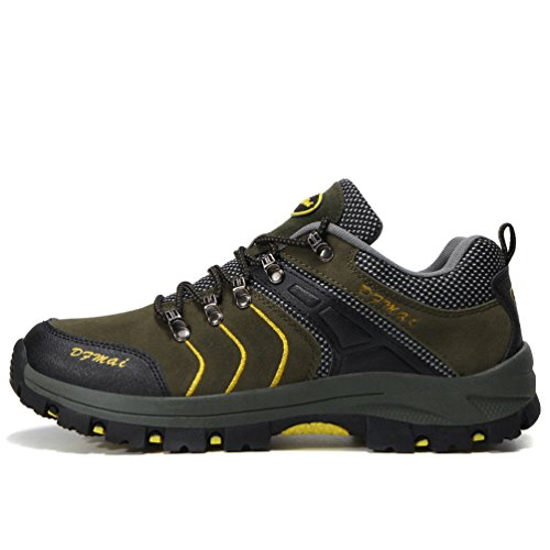 Rubber Sneakers Mens Green Green Hiking Slip Rise Sole Gray Non Shoes Walking Shoes Lightweight Shoes Yellow Outdoor Low 4Ap4qB