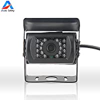 Auto safety Car Parking Camera,Rear View Backup Reversing for Car Truck Lorry Pickup Bus Vehicle Caravans,Waterproof, HD infrared Night Vision DC 9V -36V Wide Voltage(Black)