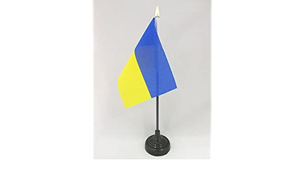 "Ukraine 4/""x6/"" Flag Desk Table Stick"
