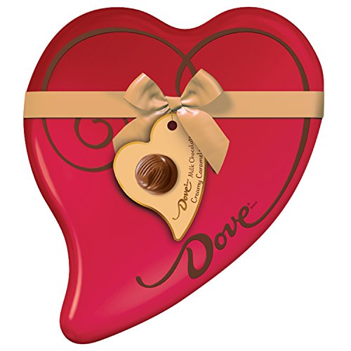 DOVE Valentine's Caramel Chocolate Candy Heart Gift Tin 8.13-Ounce Tin