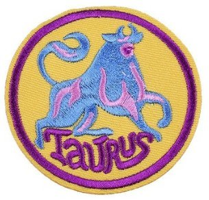 (Taurus Color Embroidered Iron-On Patch Zodiac Sign - 3)