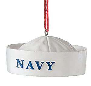 Navy Military Hat Resin Stone Christmas Tree Ornament
