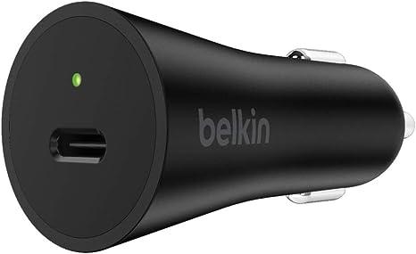 Belkin Caricabatteria da Auto USB-C da 30 W XR 8 XS X 8 Plus e iPad Pro da 10.5 XS Max 11 Pro//Pro Max Cavo non Incluso Ricarica Rapida per iPhone 11