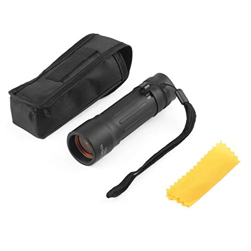 Monocular Telescope by ALZERO, 10X25 High Power HD Monocular with Pouch and Clean Cloth for Bird Watching, Camping, Hiking, Match