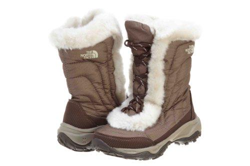 The North Face Nuptse faux faux fur II Winter Boot (Little Kid/Big Kid),Demitasse Brown/Moonlight Ivory,10 M US Little Kid ()
