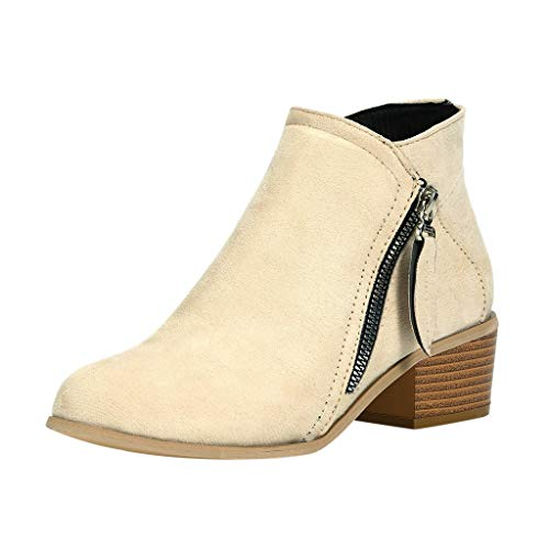Women Hollow Out Boots Fashion Solid Color Large Size Zipper Med Heels Boots Shoes Casual Square Heel Shoes