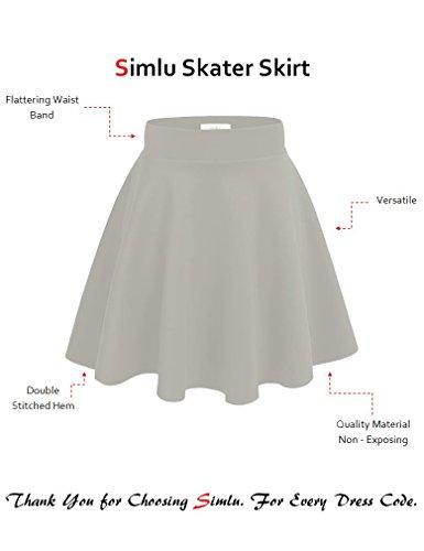 efac83cf90 new Simlu Womens Skater Skirt, A Line Flared Skirt Reg & Plus Size Skater  Skirts