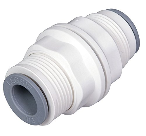 Parker Hannifin 6316 60 00WP2 LIQUIfit Polymer Body Bulkhead Union Fitting, 3/8' Push-to-Connect Tube x 3/8' Push-to-Connect Tube 3/8 Push-to-Connect Tube x 3/8 Push-to-Connect Tube Parker Hannifin Corporation