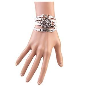 COSPLAZA de moda joyas de plata envejecida Wolf DIY pulsera infinito amigo