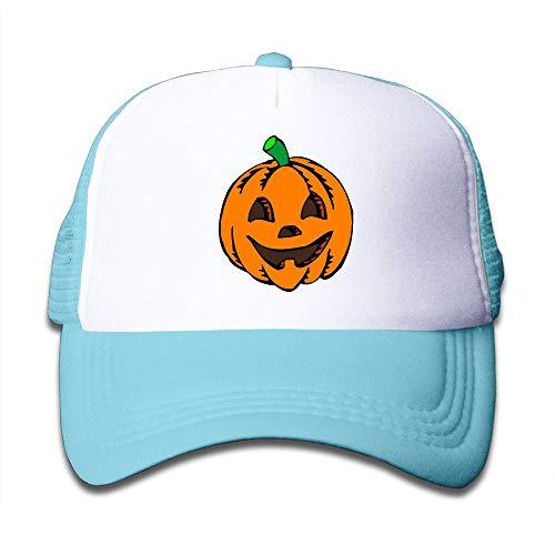 Pumpkin Clipart Halloween On Children's Trucker Hat, Youth Toddler Mesh Hats Baseball Cap